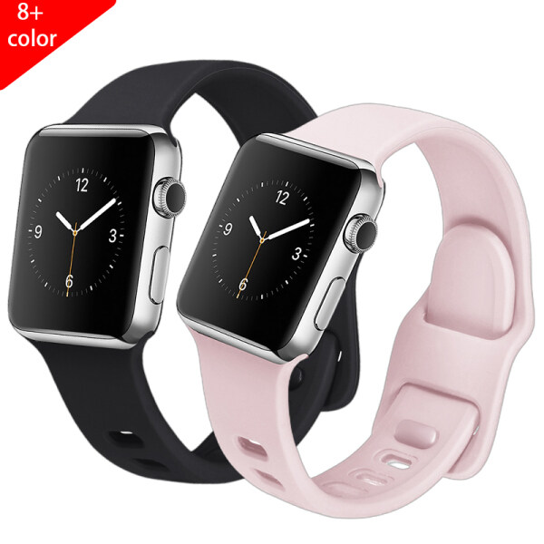 Dây Đeo Cho Apple Watch 6 5 4 3 38Mm 42Mm, Dây Đeo Bằng Silicon Thể Thao 44 40Mm Cho Apple Watch 5 Accessorie
