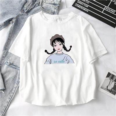 Tshirt Women Korea Oversized T-shirts White Plus Size T shirt Fashion  Casual Tops
