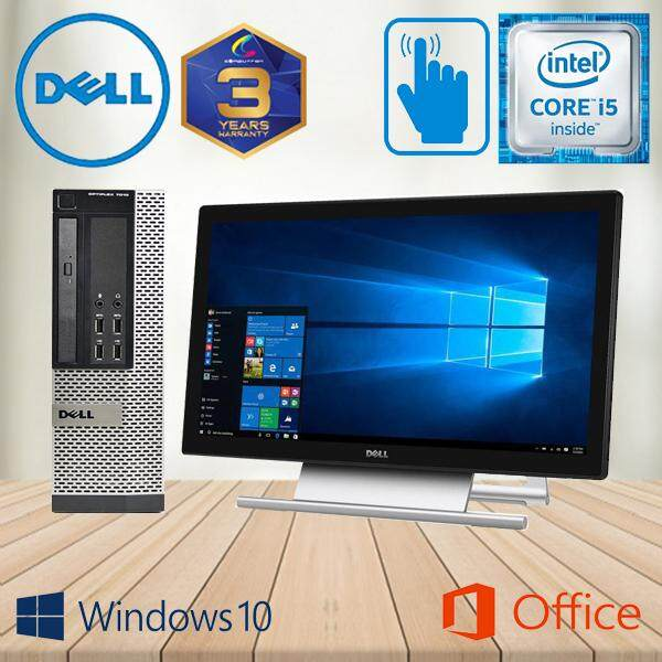 DELL OPTIPLEX 7010 TOUCHSCREEN PC DESKTOP [SFF] - CORE I5 QUAD CORE/ 4GB  DDR3 RAM/ 500GB HDD/ W10PRO/ DELL S2240T 22-INCH IPS FHD TOUCHSCREEN [ 3