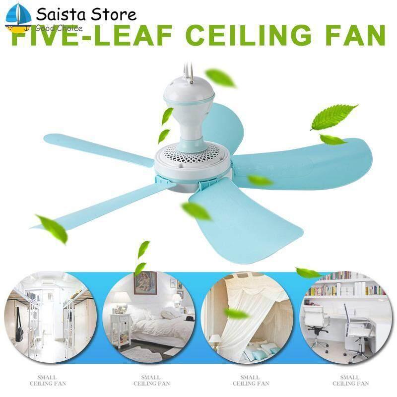 Saista Store Electric Fan 220V 5 Blades Portable Cooling Fan Home Mini Fans Ceiling Fan