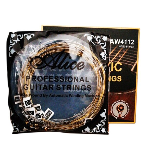 Alice AW4112 12-String Acoustic Guitar Strings, Plated Carbon Steel Plain String Winding Anti-Rust Coating for Guitar Malaysia