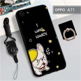 สำหรับ OPPO A71 ใหม่การ์ตูนสัตว์น่ารัก TPU กรณีแฟชั่นเคสโทรศัพท์เคสโทรศัพท์ 3in1-