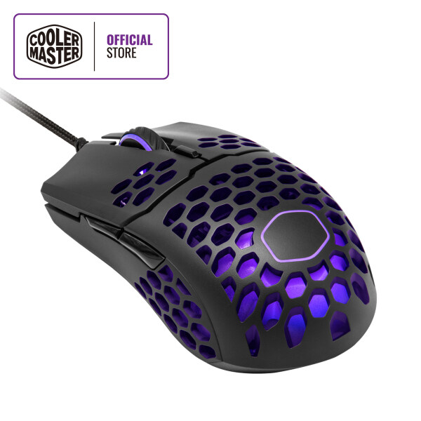 Cooler Master MM711 Ultralight Gaming Mouse, Ambidexterous Shape, 60g, RGB Illumination, PMW 3389, 16000 DPI, Honeycomb Shell Design, Ultraweave Cable, Dust & Water-resistant Malaysia