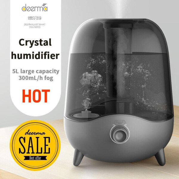 Original Deerma DEM - F323 Cool Mist 5L Large Capacity Air Humidifier Singapore