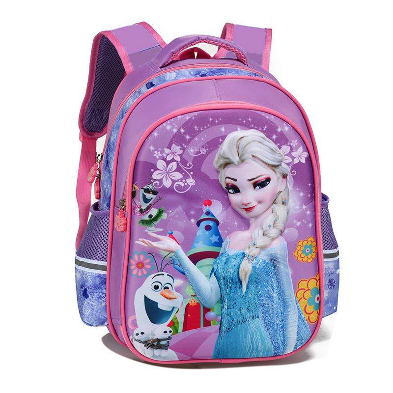 3d Stereo Primary School Students Bag Girl Kindergarten Cartoon Children Bag Ice And Snow Frozen Sophia