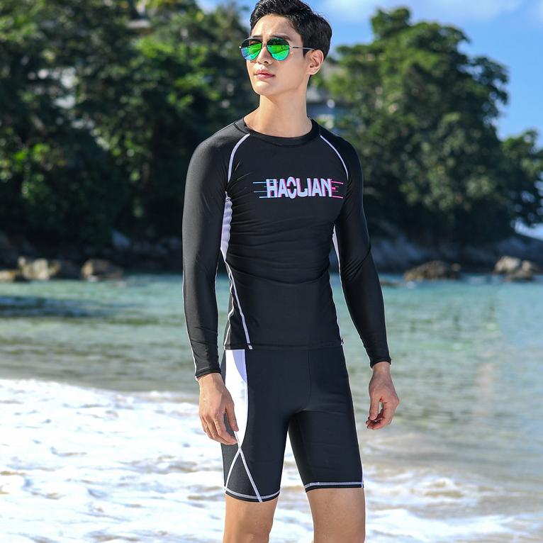 Vaduke Đồ Bơi Nam Mùa Hè Nam Chống Nắng Đồ Bơi Mùa Hè Bộ Đồ Bơi Ngoài Trời Bãi Biển Lướt Sóng Dài Tay