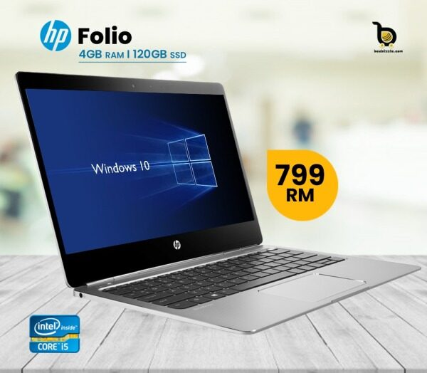 HP EliteBook Folio 14inch , Intel Core i5-Processor , 120GB SSD Windows 10 and More.. Malaysia