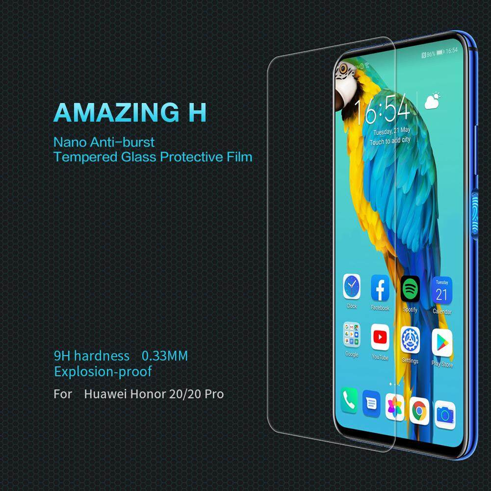 For Honor 20 Nillkin H Series Tempered Glass Explosion proof Screen Protective Film 6.26 inch