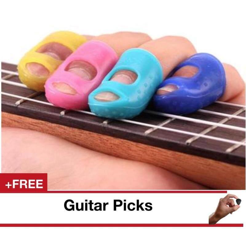 4PCS Guitar Fingertip Protectors Finger Guards For Ukulele Guitar Accessories Malaysia