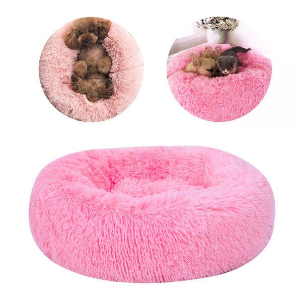 Ổ thú cưng tròn sang trọng, giường ngủ thoải mái, chống trơn trượt, có thể giặt, cũi ngủ ấm, ghế sofa cho chó, mèo