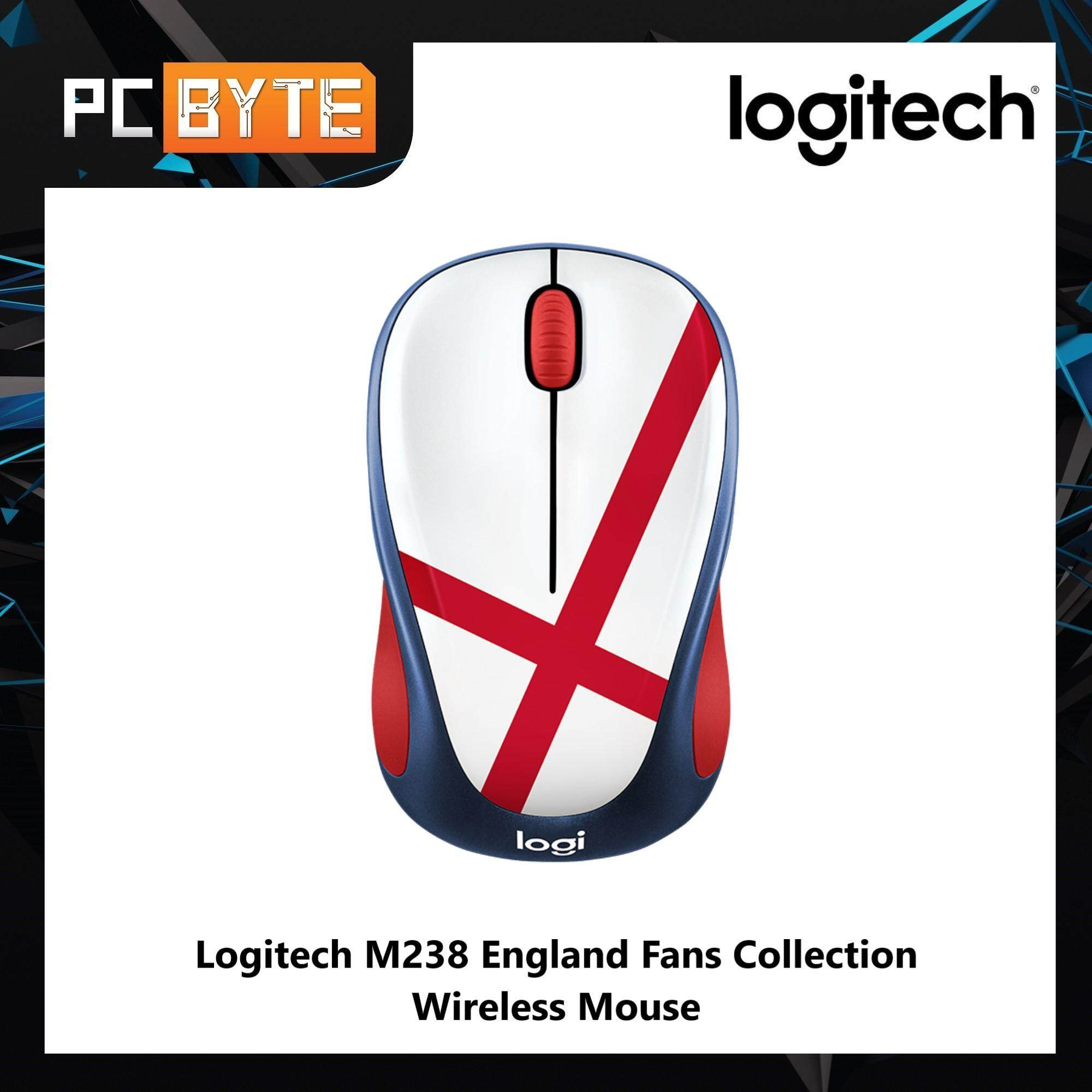 Logitech M238 England Fans Collection Wireless Mouse Malaysia