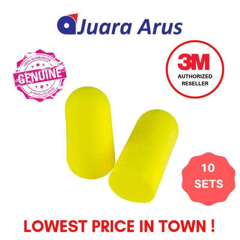 3M E-A-Rsoft Yellow Neons Earplugs 312-1250, Uncorded, Poly Bag