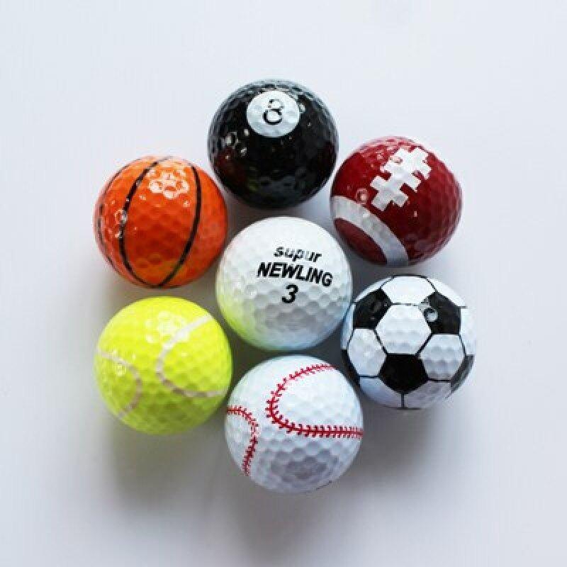 Miễn Phí Vận Chuyển 7 Cái/lốc Màu Pha Trộn Thể Thao Ngoài Trời Bóng Chơi Golf Golf Trò Chơi Phù Hợp Với Quả Bóng Hai Lớp Cao Cấp Sân Golf Bóng