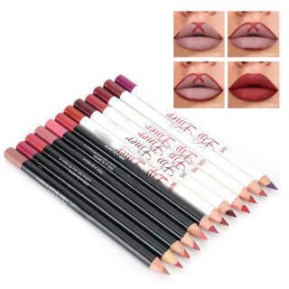 12 Colors Set Không Thấm Nước Lâu Dài Matte Lipstick Sexy Lip Liner Pencil Trang Điểm Mỹ Phẩm Vẻ Đẹp thumbnail