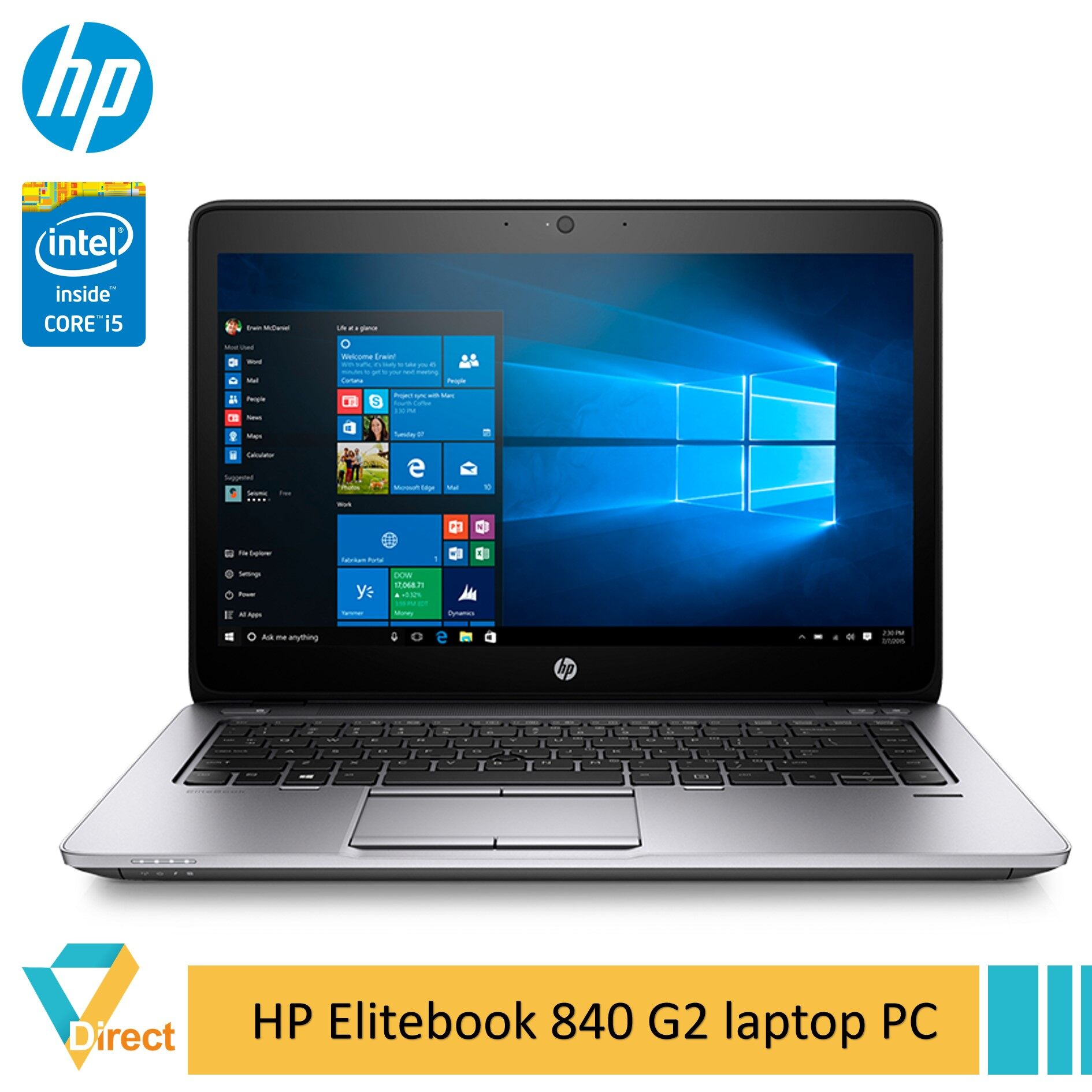 1.55kg 5th gen Core i5 16GB RAM NEW 480GB SSD HP Elitebook 840 G2 Ultrabook laptop PC -fully refurbished Malaysia
