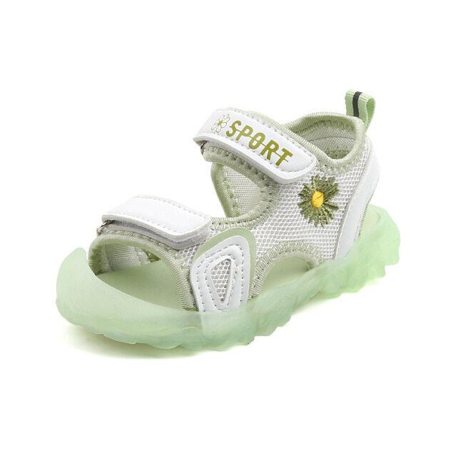 [Hàng Có Sẵn] Xăng Đan Bé Gái Mới Mùa Hè 2021, Giày Em Bé Đế Mềm Hoa Cúc Nhỏ Giày Đi Biển Baotou Chống Va Chạm Cho Bé Trai giá rẻ