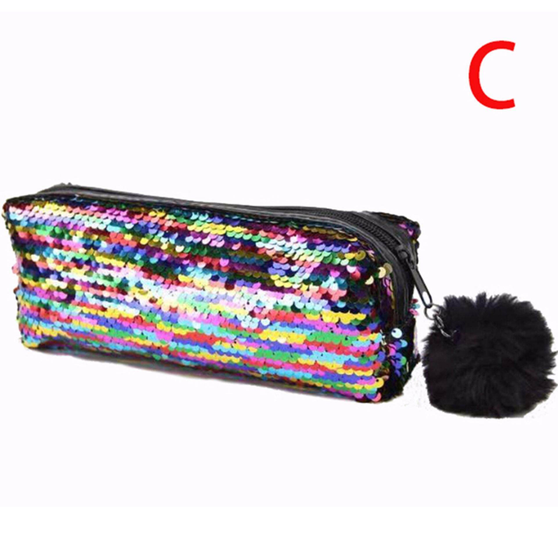 Magical House Women Mermaid Sequin Glitter Cosmetic Bag Pencil Box Coin Purse Makeup Case Gorgeous Road By Gorgeous Road.