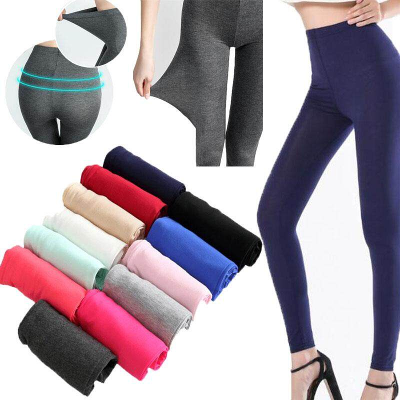 8901962a2d M-3XL 35-120kg Women High Waisted Leggings Yoga Sport Soft Full Length Slim