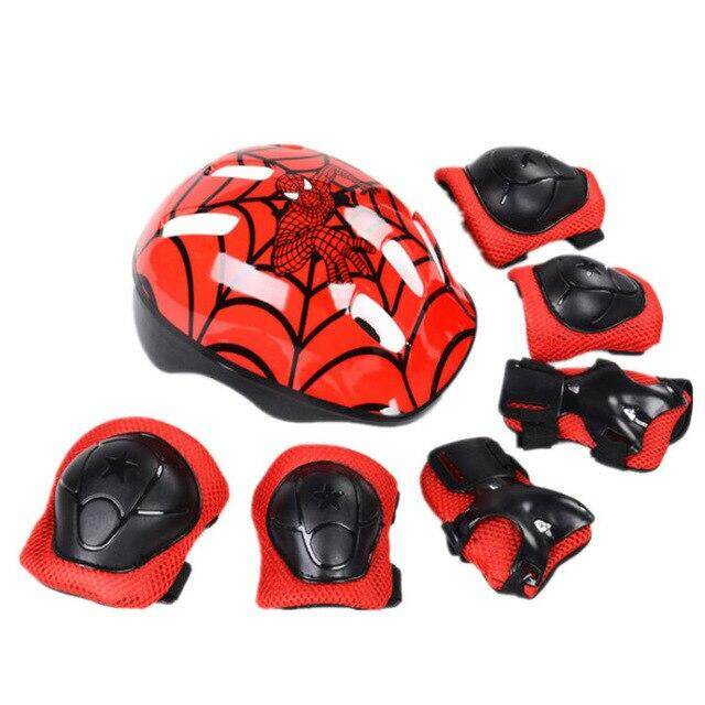 7pcs/lot casco ciclismo Kids Bicycle Helmet Elbow Wrist Knee Pads Sport Cyling Bike Helmet for Children Skateboard Mtb Riding