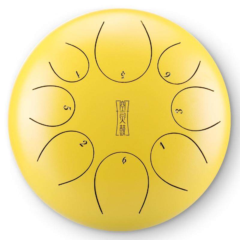 10 inch Steel Tongue Drum Mini Hand Pan Drums with Drumsticks Percussion Musical Instruments Purify Your Mind and Soul