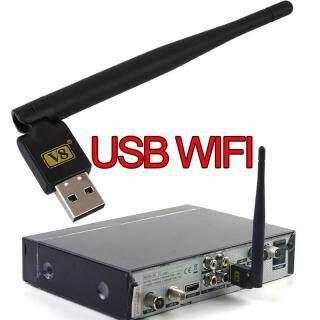 Hộp Ăng-ten WiFi Không Dây V8 Mini USB 2.0 Đầu Thu TV Vệ Tinh Freesat thumbnail