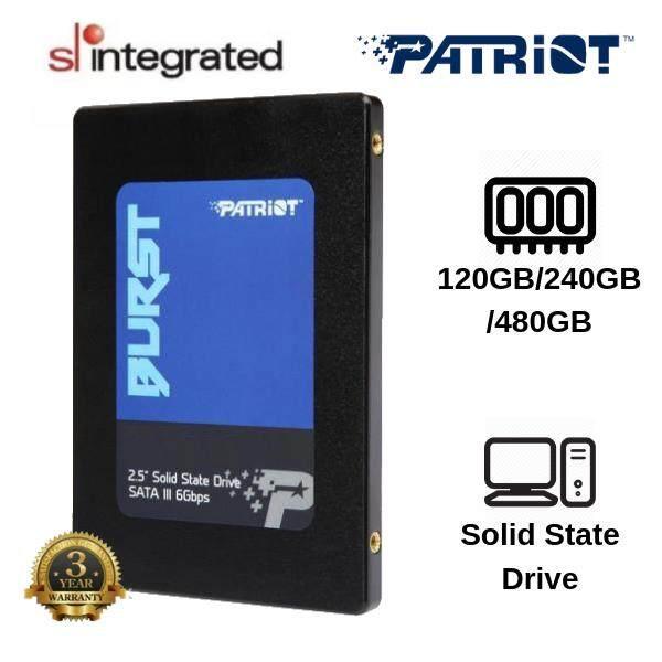PATRIOT BURST 2.5 SATA III 6Gbps SSD 120GB/240GB/480GB