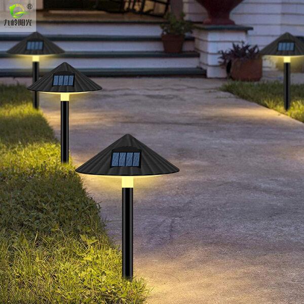Big House Đèn Bãi Cỏ Năng Lượng Mặt Trời Chiếu Sáng Ngoài Trời Không Thấm Nước Đèn Nấm Điều Khiển Cho Cảnh Quan Sân Vườn Trang Trí Nội Thất