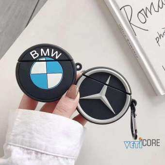 3D BM-W BEN-zcar หูฟังกรณีสำหรับ Apple airpods/airpods2 2 ซิลิโคนครอบหูฟังอากาศฝักกระเป๋าป้องกัน airpod อุปกรณ์เสริมสีดำสีฟ้าสีเงิน