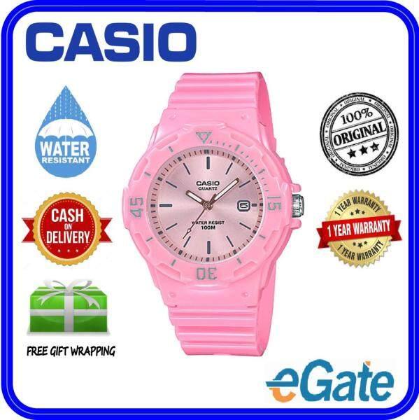 (2 YEARS WARRANTY) Casio LRW-200H-4E4V Kids & Ladies Analog Date Functioning Pink Resin Band Pink Dial Original Casual Watch (LRW-200H) Malaysia