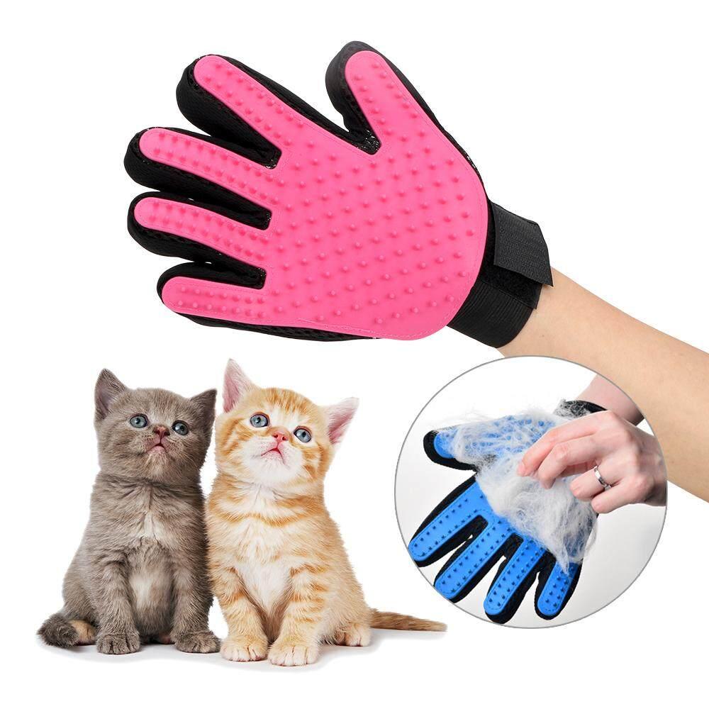 ส่งเสริมการไหลเวียนเลือดสัตว์เลี้ยงผมหวีถุงมือ 1 ชิ้นผมมือซ้ายแปรงกำจัดขนสัตว์เลี้ยงตกเเต่งเเมวสุนัขถุงมือทำความสะอาด Deshedding By Youshizhi.