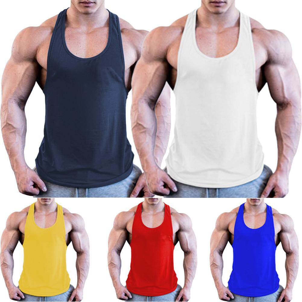 85f268b7e30392 Men Gym Muscle Shirt Tank Top Sports Bodybuilding Fitness Athletic Vest  Singlets