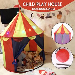 Lều Chơi Lâu Đài Hoàng Tử Công Chúa Trẻ Em, Hous Trẻ Em Di Động Trong Nhà Ngoài Trời thumbnail