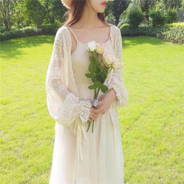 Nơi bán Ladies Phụ Nữ Áo Bùng Tay Áo Bìa Up Áo Phụ Nữ Mùa Hè Ngọt Ngào Ren Khăn Choàng Kimono Cardigan Blusas Cộng Với Kích Thước