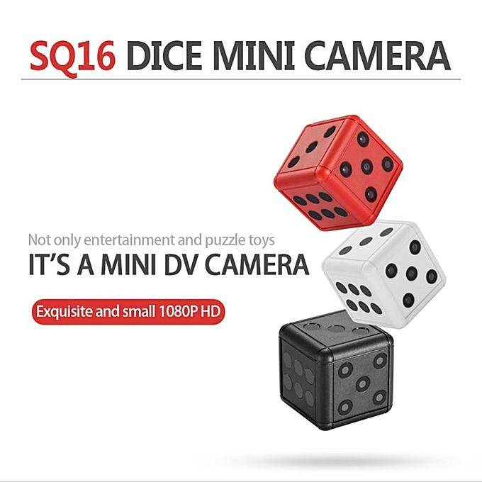 Mini Camera SQ16 Security Dice Camera 1080P HD Motion Video Surveillance Camcorder Action Night Vision Recording Support TF Card JUN(Red)
