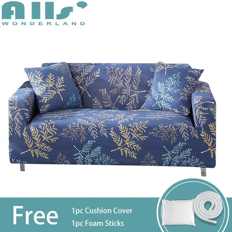 【Slipcover】(3 Seater )Flower Print Full Cover Stretch Sofa Cover 3 Seater