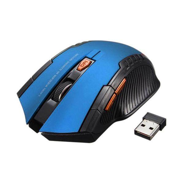 2.4G không dây 6 phím 1600DPI tự động ngủ chuột chơi game quang cho PC Laptop