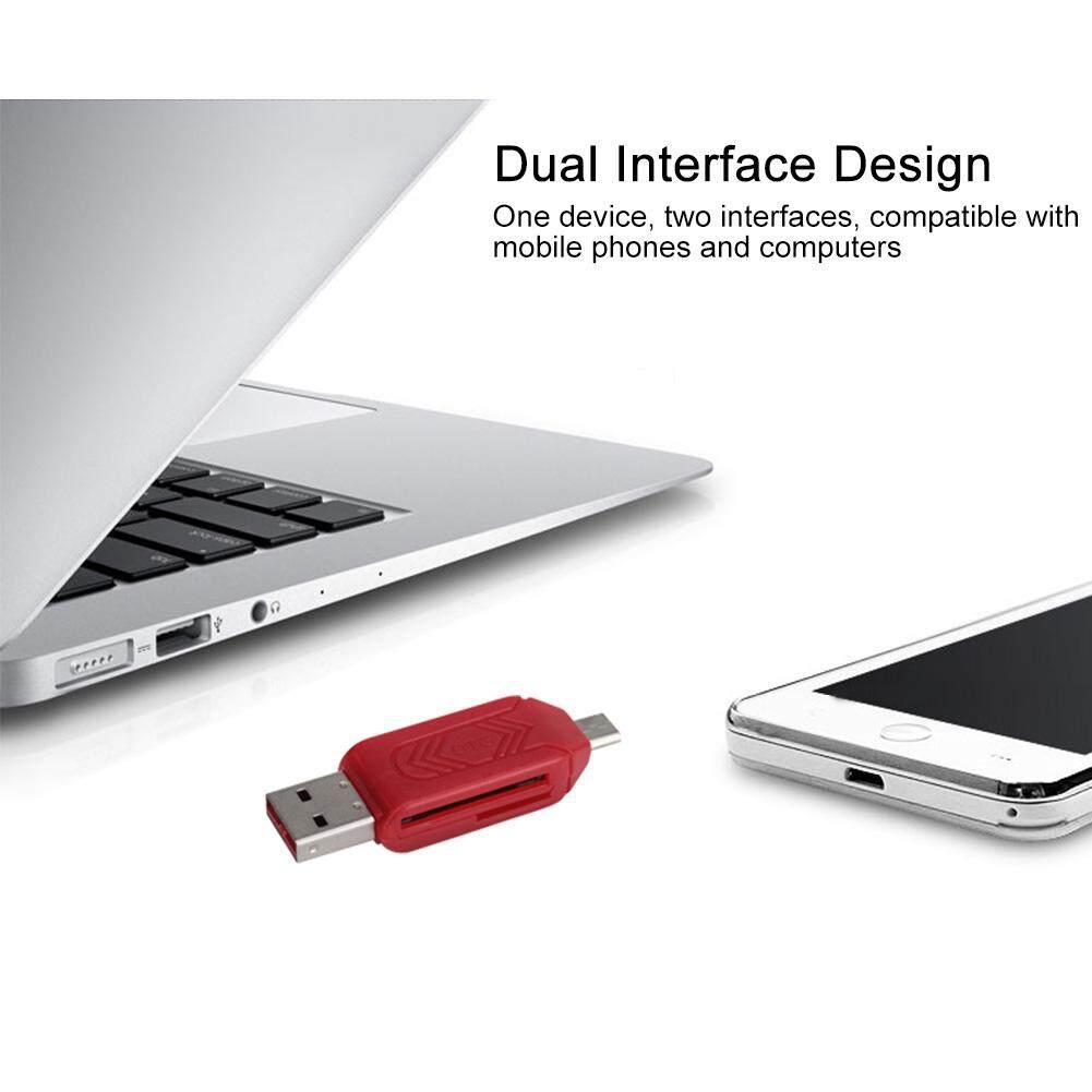 2 trong 1 Tiết Kiệm Không Gian Giao Diện Kép chống Trơn Trượt Nhẹ Thông Minh Đa Năng Di Động ABS Thẻ Đa Năng USB 3.0 Adapter tương thích Micro Nhỏ Gọn - 4