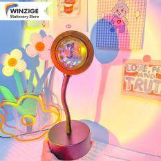 Đèn Chiếu Hoàng Hôn Winizge IG Đèn Ngủ Led Cầu Vồng, Đèn Tường Phòng Ngủ, Đèn USB