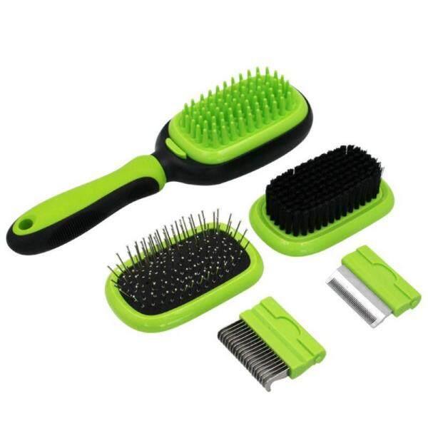 Vật Nuôi Làm Sạch Bàn Chải Làm Đẹp Đặt Thép Không Gỉ Hôn Comb Bath Massage Brushes Mèo Chó Air Cushion Combs