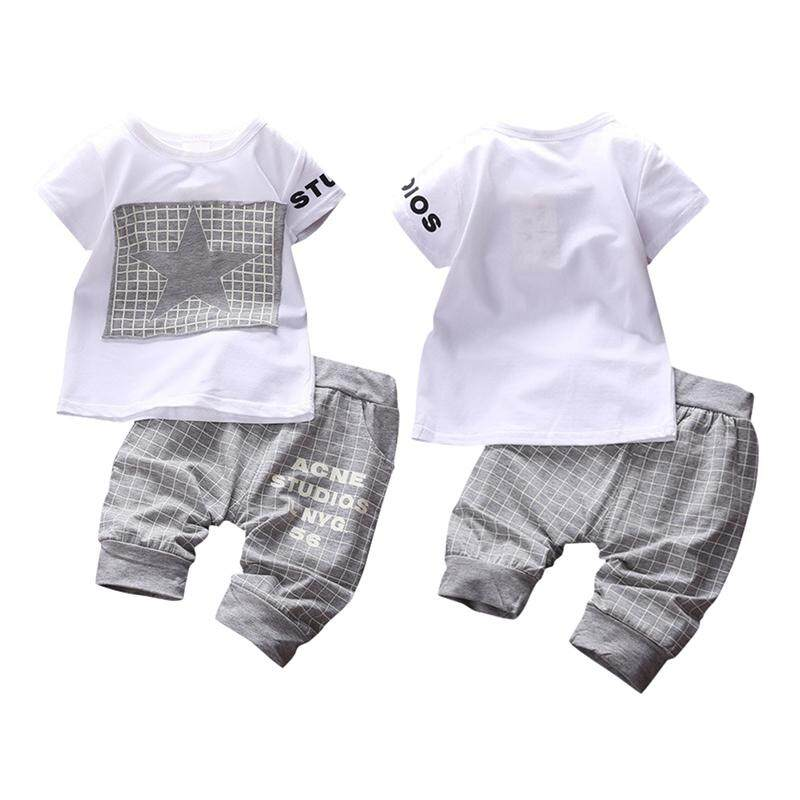 d3307b11 2PC Fashion Summer Kids Baby Toddler Kids Boy Clothes T-shirt Top +Pants  Outfits