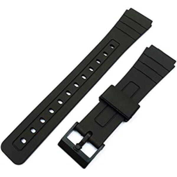 Watch Band Replacement Strap For F-91W 18mm Black Resin Plastic Wrist Watchstrap with Pins Malaysia