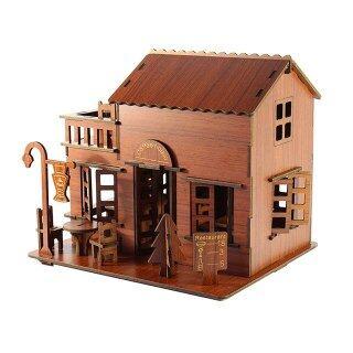 Đồ Chơi Xếp Hình Bằng Gỗ 3D Hộp Nhạc Giáo Dục Ghép Hình Kiến Trúc Nhà Tự Làm Cho Biệt Thự Bé Trai Bé Gái, Nhà Giấy Xếp Hình Cho Trẻ Em thumbnail