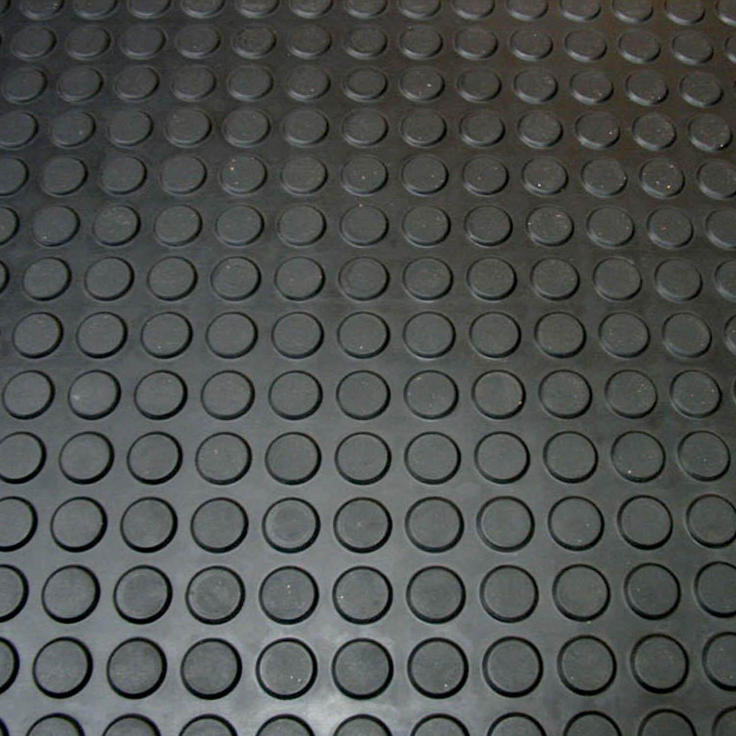 Round Stud Rubber Mat 4.5mm Thick Anti-skid Round Stud Rubber Floor Matting