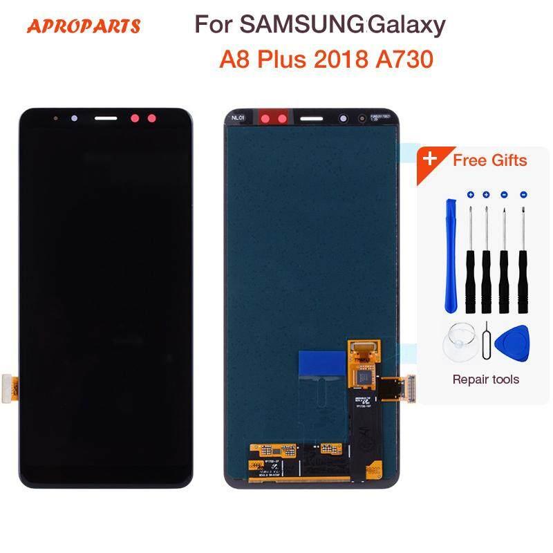 Baru Asli Tampilan Layar LCD untuk Samsung Galaxy A8 Plus 2018 LCD A730 A8 2018 LCD A530 Sentuh Display Pergantian Digital + Alat