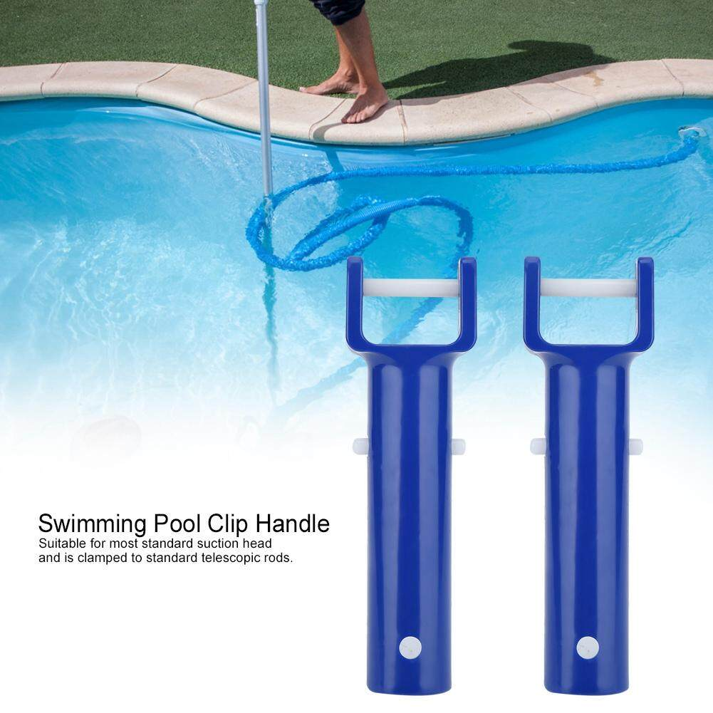 2Pcs Blue Swimming Pool V Shape Clip Brush Head Handle Replacement Pool  Accessories