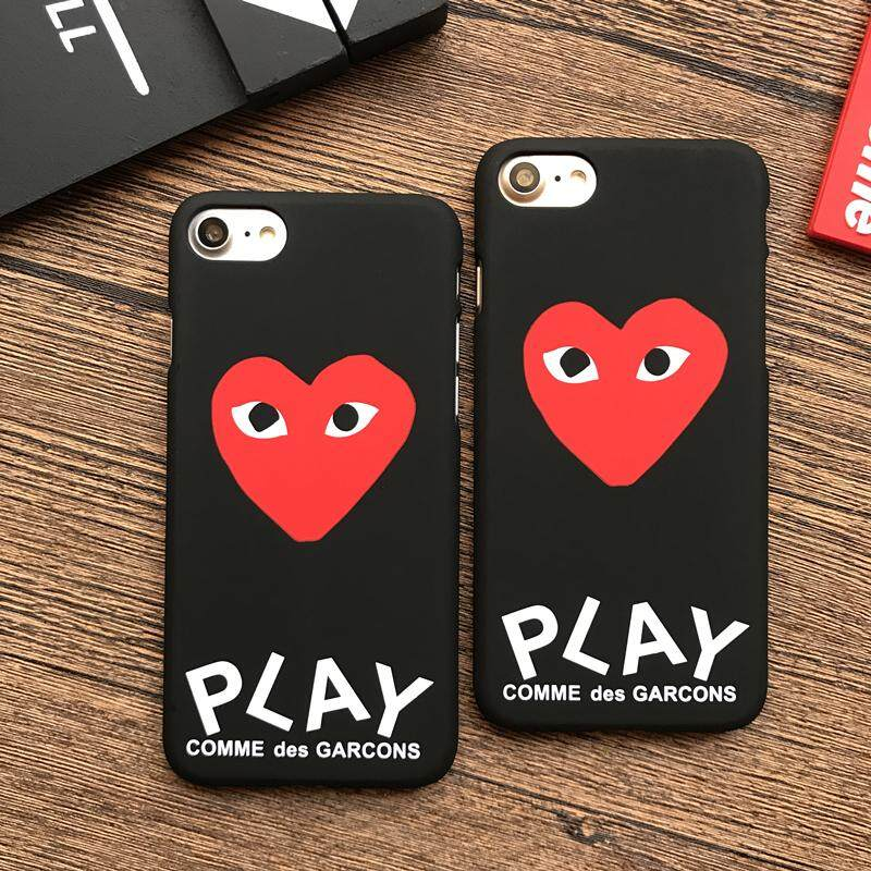 entire collection good looking info for CDG PLAY Comme des Garcons Phone Case for Coque iPhone 7 CDG 8 Plus 6s 5s  SE 7Plus Heart Eye Cover for Funda iPhone X XR XS Max