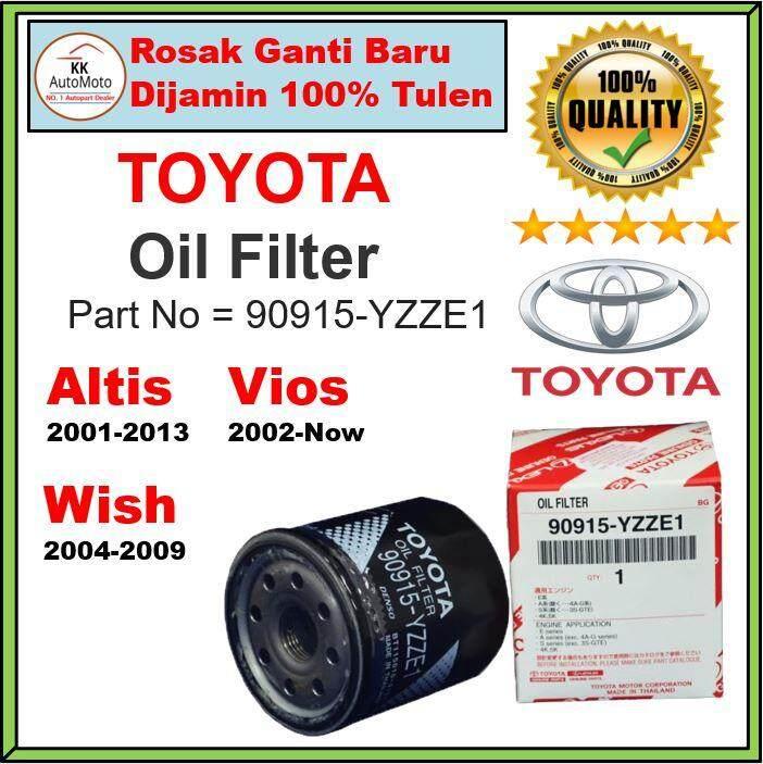 Original Toyota Oil Filter 90915-YZZE1 - Camry / Altis / Wish / Avanza /  Unser / Yaris / Vios - Penapis Minyak