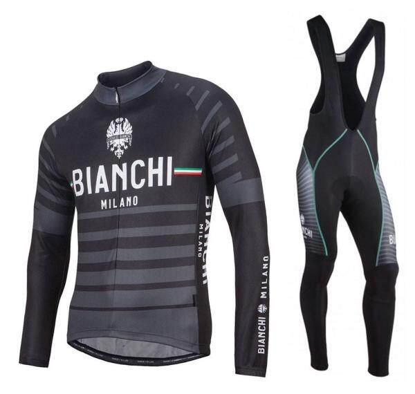 2021 Mới Bianchi Albatros Tay Áo Dài Đi Xe Đạp Bộ Quần Và Áo Bóng Đá