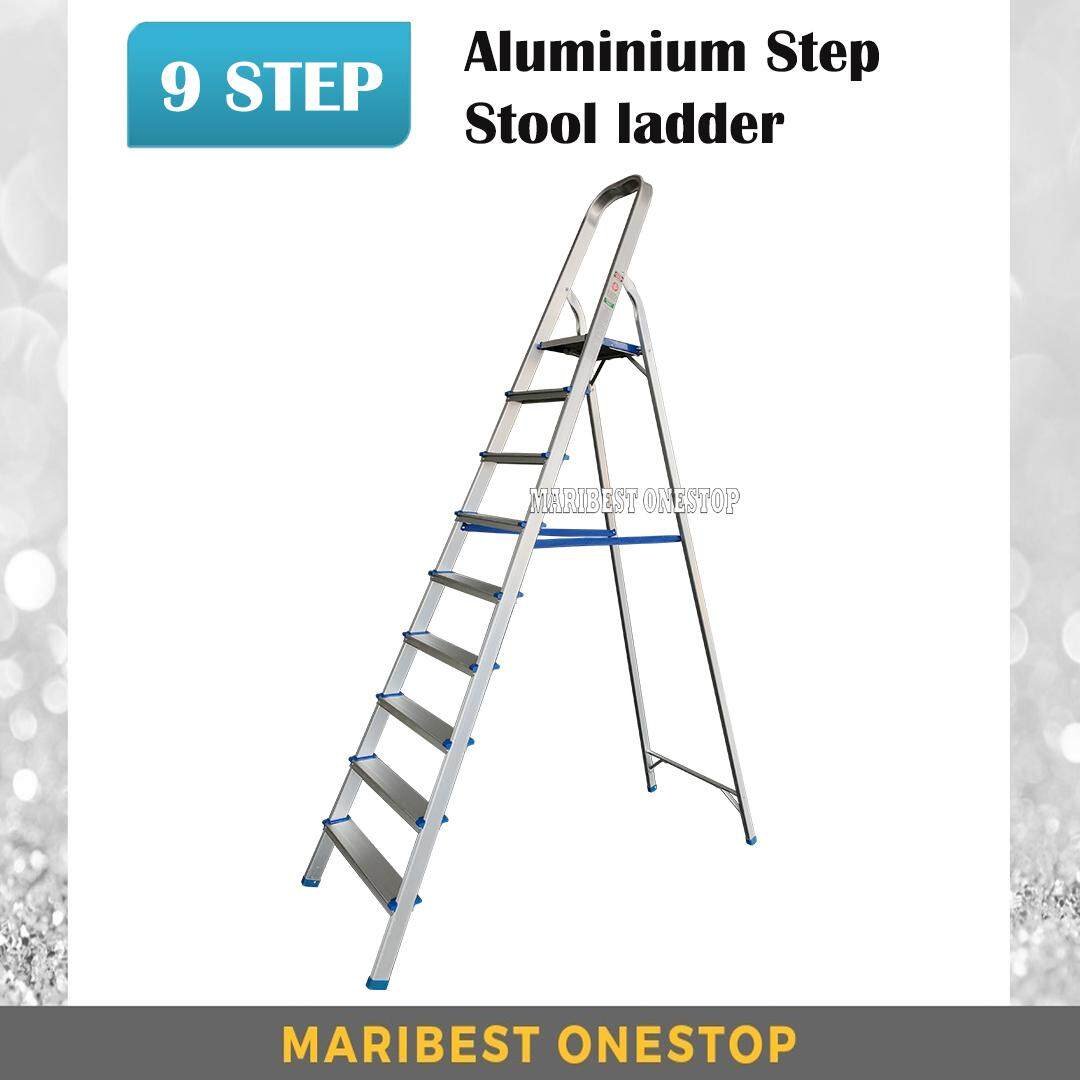 9 Step Foldable Aluminium Step Stool Ladder SAL9