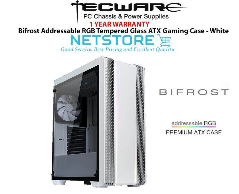 Tecware BIFROST Addressable RGB Tempered Glass ATX Gaming Case - White Malaysia